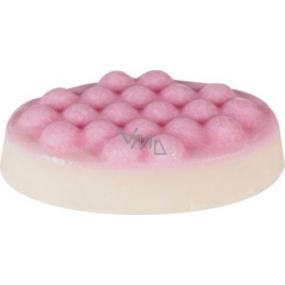 Bomb Cosmetics Sametová jahoda - Velvet Strawberry Masážní tuhé máslo 75 g
