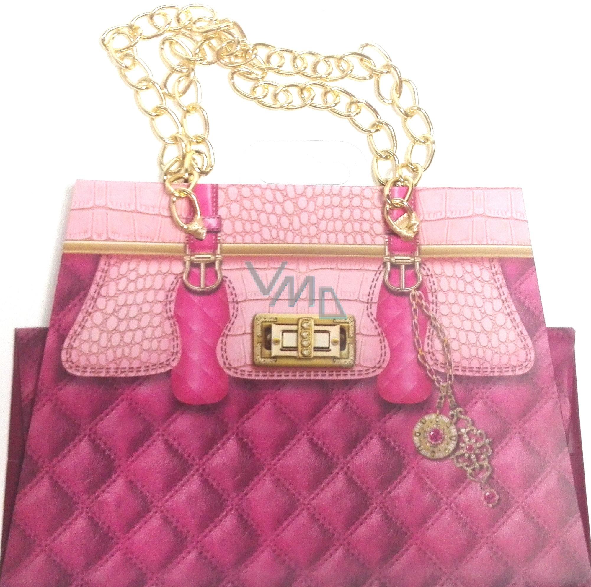 Nekupto Dárková papírová taška malá 19 x 14 x 9 cm kabelka s řetízkem 040 LCS