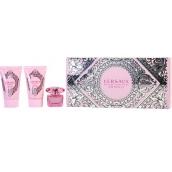 Versace Bright Crystal Absolu parfémovaná voda pro ženy pro ženy 5 ml + tělové mléko 25 ml + sprchový gel 25 ml, dárková sada