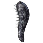 Dtangler Detangling Brush Kartáč pro snadné rozčesání vlasů 18,5 cm Black Flower
