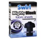 Swirl Mighty Black Černé prádlo ubrousky do pračky 12 kusů