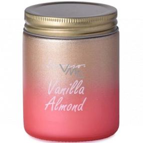 Emocio Vanilla Almond - Vanilková mandle vonná svíčka sklo s plechovým víčkem 74 x 95 mm