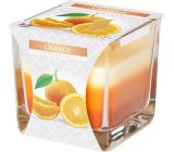 Bispol Orange - Pomeranč tříbarevná vonná svíčka sklo, doba hoření 32 hodin 170 g