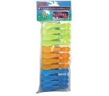 Clanax Jumbo Kolíčky na prádlo plastové, barevné 12 kusů