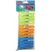 Clanax Jumbo barevné plastové kolíčky na prádlo 12 kusů