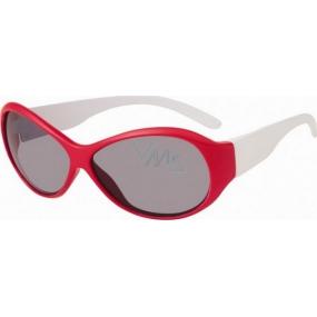 Dudes & Dudettes JK129 červenobílé sluneční brýle pro děti