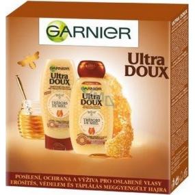 Garnier Ultra Doux Trésors de Miel šampon pro oslabené a lámavé vlasy 250 ml + Ultra Doux Trésors de Miel balzám pro oslabené a lámavé vlasy 200 ml, kosmetická sada