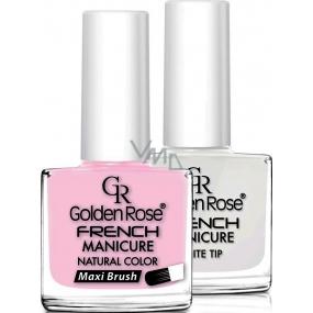 Golden Rose French Manicure Set lak na nehty francouzská manikúra 05 2 x 10,7 ml