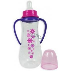 First Steps Stars Růžová 0+ kojenecká láhev s 2 úchopy 250 ml