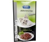 Dr. Clauders Kuře a kachna v omáčce kompletní krmivo s kousky masa pro kočky kapsička 100 g