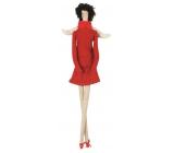 Andělka látková v červeném na posazení 43 cm