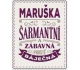 Albi Skládací taška na zip do kabelky se jménem Maruška 42 x 41 x 11 cm