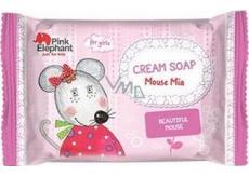 Pink Elephant Myška Mia krémové mýdlo pro děti 90 g