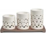 Yankee Candle Belmont Multi keramické svícny na čajové svíčky s kovovým podstavcem, dárková sada
