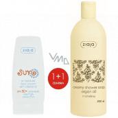 Ziaja Sun SPF 50+ antioxidační krém s vitamínem C 50 ml + Arganový olej krémové sprchové mýdlo 500 ml, duopack