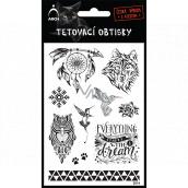 Arch Tetovací obtisky Černé Lapač snů 14 x 11 cm