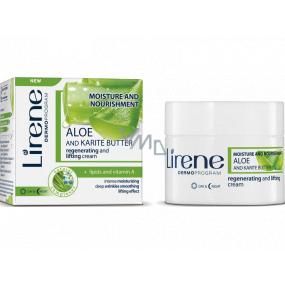 Lirene H&V Aloe Vera a Karité máslo Den/Noc regenerační liftingový krém pro všechny typy pleti 50 ml
