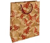 Nekupto Gift kraft bag 28 x 37 cm Christmas Snowy houses 601 WKHL