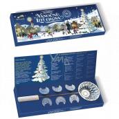 Betlemia Tradiční Vánoční lití olova 6 kusůolověných mincí + tavící naběračka, sada na lití olova