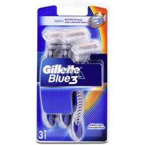 Gillette Blue 3 holítka 3 břitý pro muže 3 kusy
