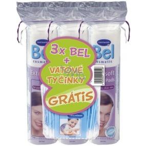 Bel Cosmetic Kosmetické tampony 3 x 70 kusů + vatové tyčinky