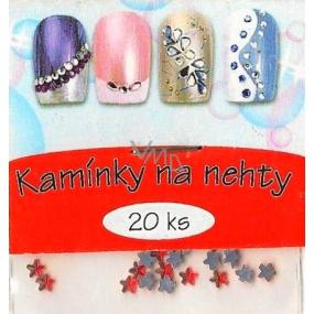 Professional Ozdoby na nehty kamínky hvězdičky červené 20 kusů