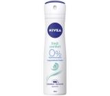 Nivea Fresh Comfort s lehkou svěží vůní deodorant sprej pro ženy 150 ml