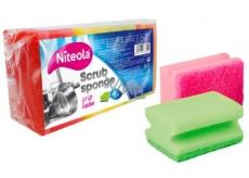 Cleanex Grip  Scrub Sponge Ultra tvarovaná houba na nádobí 9 x 7 x 4,5 cm 4 kusy