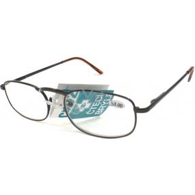 Berkeley Čtecí dioptrické brýle +4,00 hnědé kov CB02 1 kus MC2005
