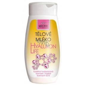 Bione Cosmetics Hyaluron Life s kyselinou hyaluronovou tělové mléko 250 ml