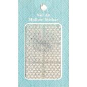 Nail Accessory Hollow Sticker šablonky na nehty multibarevné srdíčka 1 aršík 129