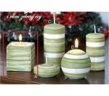 Lima Zimní třpyt Zelený čaj vonná svíčka krychle 65 x 65 mm 1 kus