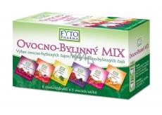 Fytopharma Ovocno - bylinný Mix čajů 6 druhů po 5 kusech, 30 x 2 g