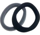 Vlasová gumička černá, šedá 5 x 1 cm 2 kusy