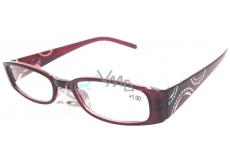 Berkeley Čtecí dioptrické brýle +3,5 bordó stranice s kamínky 1 kus MC2154
