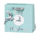 BSB Luxusní dárková papírová taška 14,5 x 15 x 6 cm Vánoční VDT 430 - CD
