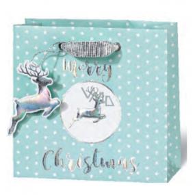 BSB Luxusní vánoční dárková papírová taška 14,5 x 15 x 6 cm VDT 430 - CD