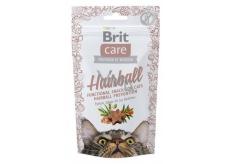 Brit Care Cat Snack Hairball Kacgna pamlsek poloměkké doplňkové krmivo 50 g