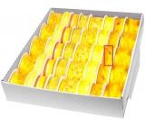 Ditipo Stuha látková s drátkem hořčicovo-oranžová kytka 3 m x 25 mm
