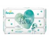 Pampers Pure Aqua vlhčené ubrousky z bio bavlny, bez alkoholu a parfemace pro děti 3 x 48 kusů