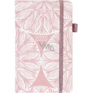 Albi Diář 2020 kapesní s gumičkou Rozety 15 x 9,5 x 1,3 cm