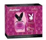 Playboy Queen of The Game toaletní voda pro ženy 40 ml + sprchový gel 250 ml, dárková sada