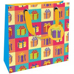 Nekupto Dárková papírová taška luxusní 23 x 23 x 10 cm 1870 LIM