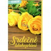 Nekupto Přání všeobecné Žluté růže 115 x 170 mm 3567 F