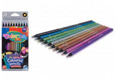 Colorino Pastelky kulaté metalické, 10 barev