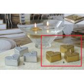 Lima Plovoucí srdíčko svíčka metal zlatá 4 kusy