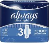 Always Ultra Night hygienické vložky s křidélky 7 kusů