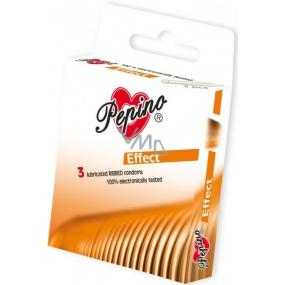 Pepino Effect zdrsněné kroužky kondom z přírodního latexu 3 kusy