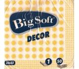 Big Soft Decor papírové ubrousky žluté 1 vrstvé 33 x 33 cm 50 kusů