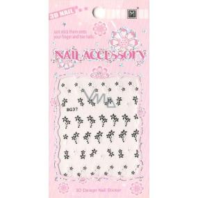Nail Accessory 3D nálepky na nehty 1 aršík 10100 BG37